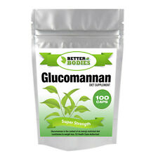 Better Bodies 100 Glucomannan Max Konjac Fibre Diet Weight Loss Supplement Pills