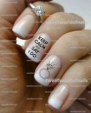 WEDDING NAIL ART I DO WATER DECALS TRANSFERS DECORACION DE UÑAS CALCOMANIAS BODA