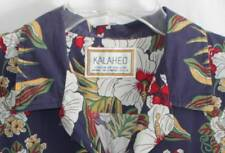 Kalaheo Mens Shirt Hawaiian Tropical Beach Cruise Boat Drinks Hibiscus Floral XL