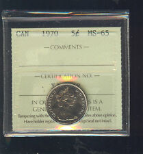1970 Canada 5 Cents ICCS Certified MS65 C693