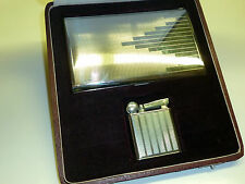 FLAMIDOR PRESIDENT ART DECO LIGHTER + CIGARETTE CASE - OVP - 1930 - FRANCE