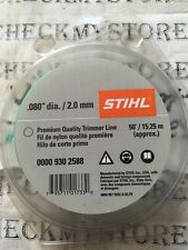 "NEW STHIL 0000 930 2588 .080""DIA/ 2.0 mm   50'/15.25M TRIMMER LINE"