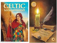 Celtic Lenormand Oracle NEW Sealed 45 color cards 188 guidebook Chloe McCracken