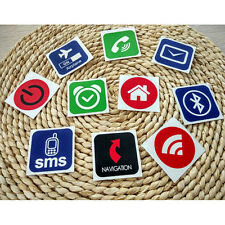 10pcs NFC Tags Smart Stickers for Samsung Galaxy S5 S4 Nokia Sony Nexus 5 JX UK