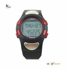 Waterproof Heart Rate Monitor Watch Pedometer Chronograph Timer Sports Diving