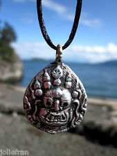 UNISEX WRATHFUL MAHAKALA DHARMA PROTECTOR TIBETAN BUDDHIST PENDANT NECKLACE NEW