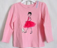 GIRLS 3T PINK GIRL IN TUTU WALKING POODLE DOG SHIRT NWT ~ THE CHILDREN'S PLACE