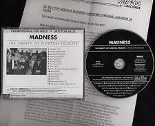 MADNESS - LIBERTY OF NORTON FOLGATE - USA PROMO + PRESS SHEETS - SUGGS TWO TONE