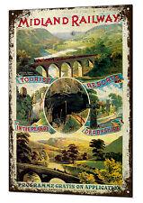 Midland Railway Train Vintage Metal Sign Retro Tin Plaque Advert