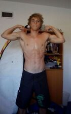 Shirtless Male Bare Chest Flexing Arm Pits Shaggy Haired Jock PHOTO Pic 4X6 D35