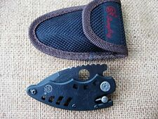 SR Tadpole Lock Stainless Steel Saber Fishing Camping Folding Pocket Knife