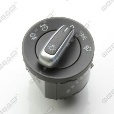 VW TOUAREG HEADLIGHT LIGHT LAMP SWITCH UNIT WITH SILVER TRIM 3C8941431C