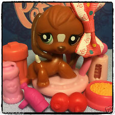Littlest Pet Shop LPS RARE CHOCOLATE BROWN BEAGLE PUPPY DOG # 1738
