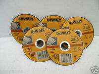 5 X DEWALT DT42240Z 115MM 1.2MM INOX STAINLESS STEEL METAL CUTTING GRINDER DISCS