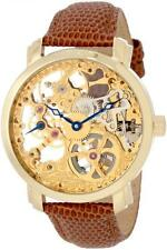 Akribos XXIV AK406YG Davinci Mechanical Gold Plated Skeleton Men's Watch