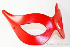 1950s Catwoman Red Leather Mask Superhero Halloween Masquerade Costume Geek