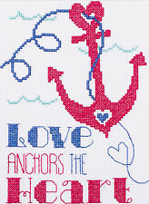Cross Stitch Kit ~ My 1st Stitch Beginner Love Anchors the Heart #46442