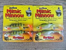 "2 PACKAGES - NORTHLAND 4"" MIMIC MINNOW - PRE-RIGGED PADDLE TAIL SWIMBAIT"