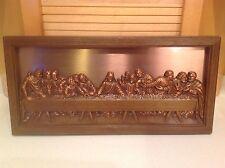 """Vintage Coppercraft Guild Da Vinci's """"The Last Supper"""" High Relief 20.5"""" x 10"""""""