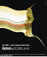PUBLICITE ADVERTISING 055  1976  GUERLAIN  maquillage  ELYSEMAT
