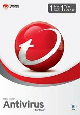 TREND MICRO Antivirus/iNTERNET sECURITY FOR MAC 2017 -1YEAR 1MAC (Multilanguage)