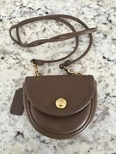 Vintage COACH 9826 CHOCOLATE BROWN LEATHER MINI BELT BAG SHOULDER CROSS BODY