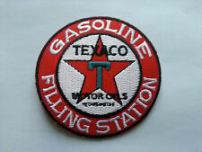 MOTORSPORTS RACING TYRE SEW ON / IRON ON PATCH:- TEXACO GASOLINE FILLING STATION
