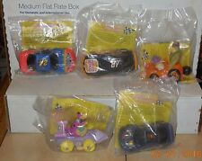 1997 Burger King Kids Meal Toy Cartoon Network Wacky Racing Team Complete Set