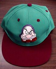 NEW VINTAGE WALT DISNEY SNOW WHITE & SEVEN DWARFS GRUMPY YOUTH BASEBALL CAP HAT!