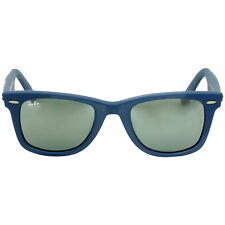 Ray-Ban Wayfarer Camo Blue Fabric Frame Sunglasses RB2140F-115440-52