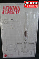 STAR WARS Embossed Metal Sign X-WING FIGHTER Spec Detail Collectible *NEW*SEALED