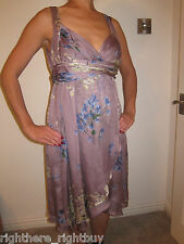 BNWT Silk Zara floral flower dress