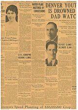Original Newspaper Dillinger Slain?.THREE ESCAPE PRISON APRIL 30 1934 1601118WR