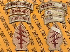 US Army Special Forces Group Airborne SFGA SF Ranger TOP Desert DCU patch m/e