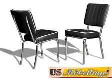 CO-25 Black Bel Air Möbel 2 Stühle Diner Küchenmöbel im Style der 50er Jahre