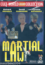Martial Law (1990) DVD NUOVO Cynthia Rothrock. David Carradine. Richard Brandes