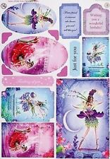 A4 ENCHANTED PEARLESCENT FAIRY TOPPERS - AMETHIST