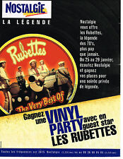 PUBLICITE ADVERTISING   1989   NOSTALGIE radio    the best of  THE  RUBETTES
