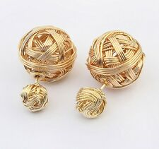 Fashion Vintage Women Elegant Gold Silver Drop Dangle Ear Stud Earrings Jewelry