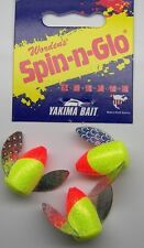 SPIN N GLO LOT 3 SPINNER LURE DRIFT BOBBER TROUT SALMON STEELHEAD WORDEN'S #6