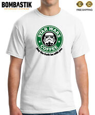 R 0350 STAR WARS COFFEE Starbucks T-shirt Tee Funny Darth Vader Movies Skywalker