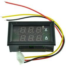 DC 4.5-30V 0-50A Dual Digital LED Volt Meter Ammeter Voltage AMP Power Meter 12V