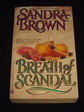 wm* SANDRA BROWN ~ BREATH OF SCANDAL