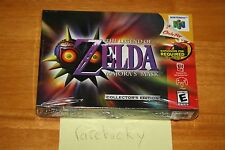 Legend of Zelda Majora's Mask CE (Nintendo 64 N64) NEW SEALED, NEAR-MINT, RARE!