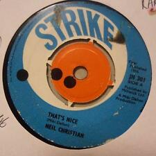 """Neil Christian(7"""" Vinyl)That's Nice / She's Got The Action-Strike-JH 30-Ex/VG+"""