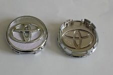 4 NEW Chrome Wheel Center Caps Toyota™ Corolla, Yaris, Prius - Free Shipping