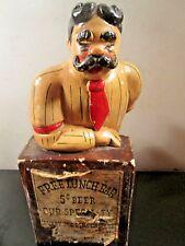 "Vintage Chalkware Bartender - Mike O'Hoolahan - 10"" Tall Statue Rare"