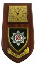LANCASHIRE FIRE & RESCUE SERVICE CLASSIC HAND MADE TO ORDER  WALL CLOCK