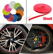CAR WHEEL RIM GUARD TRIM TIRE ALLOY DECORATION PROTECTOR Red FOR BMW AUDI BENZ