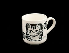TASSE MUG MANEKINEKO CHAT PORTE BONHEUR JAPONAIS MANEKI NEKO MADE IN JAPAN  300